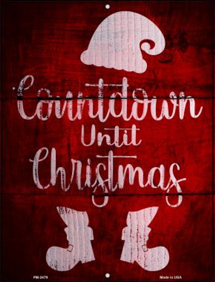 Countdown Until Christmas Novelty Mini Metal Parking Sign PM-2479