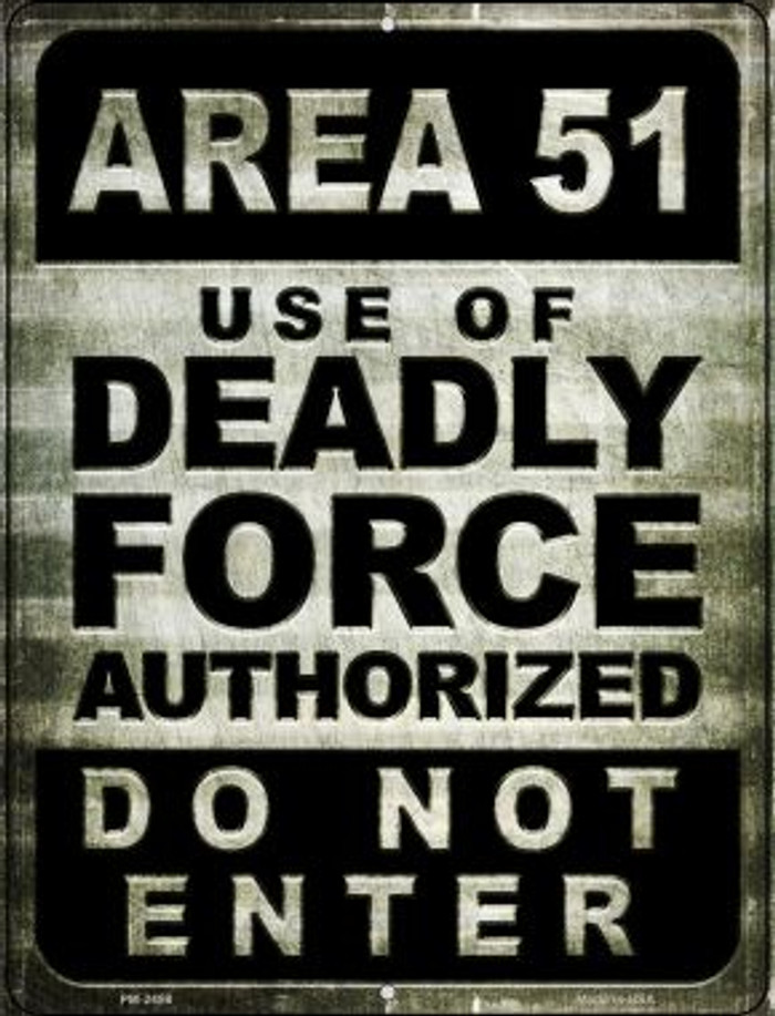 Area 51 Novelty Mini Metal Parking Sign PM-2498