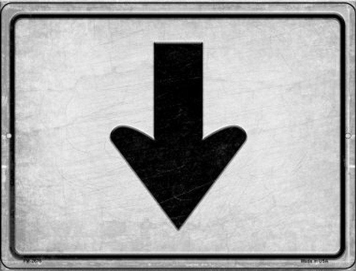 Down Novelty Mini Metal Parking Sign PM-2676
