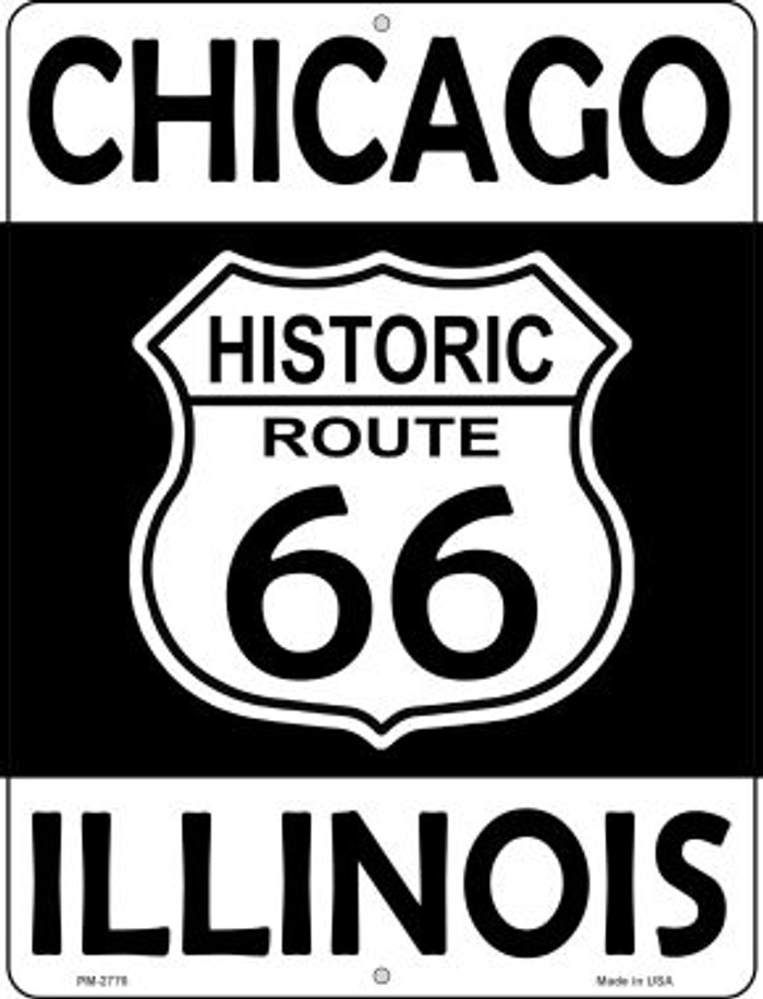 Chicago Illinois Historic Route 66 Novelty Mini Metal Parking Sign PM-2776