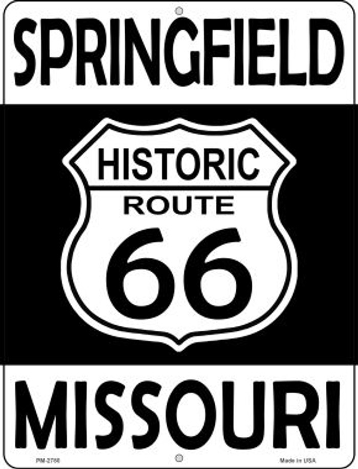 Springfield Missouri Historic Route 66 Novelty Mini Metal Parking Sign PM-2780