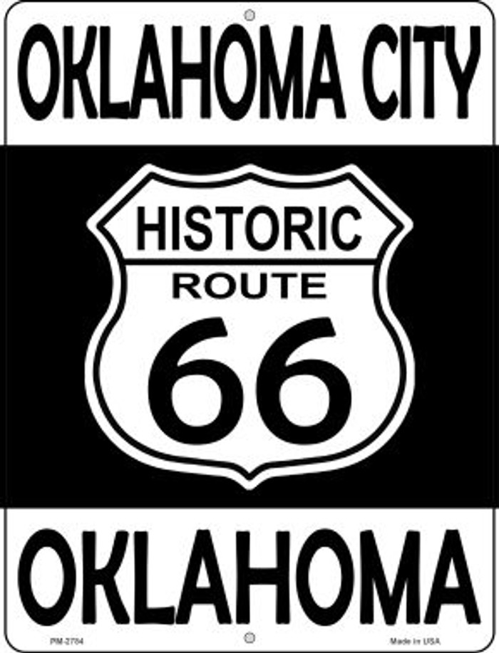 Oklahoma City Oklahoma Historic Route 66 Novelty Mini Metal Parking Sign PM-2784