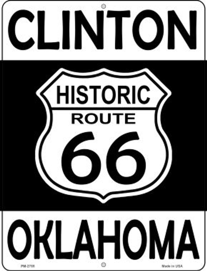 Clinton Oklahoma Historic Route 66 Novelty Mini Metal Parking Sign PM-2785