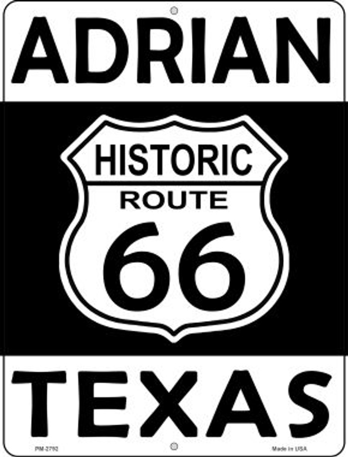 Adrian Texas Historic Route 66 Novelty Mini Metal Parking Sign PM-2792