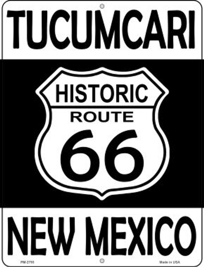 Tucumcari New Mexico Historic Route 66 Novelty Mini Metal Parking Sign PM-2793