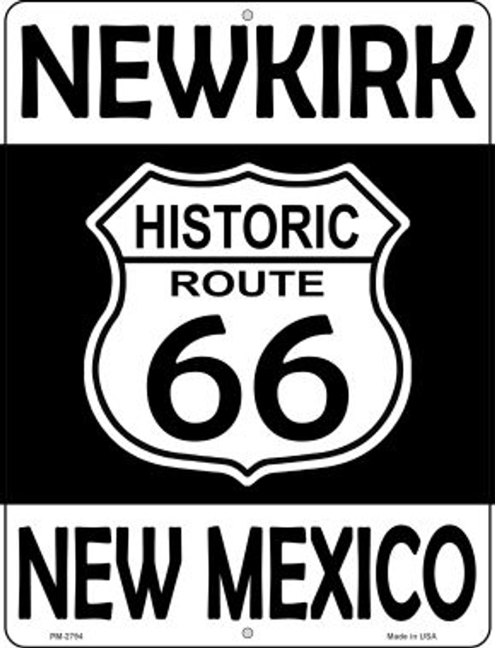 Newkirk New Mexico Historic Route 66 Novelty Mini Metal Parking Sign PM-2794