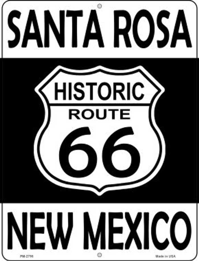 Santa Rosa New Mexico Historic Route 66 Novelty Mini Metal Parking Sign PM-2795