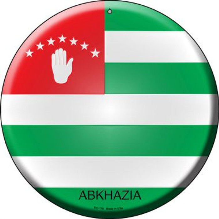 Abkhazia Country Novelty Small Metal Circular Sign UC-178
