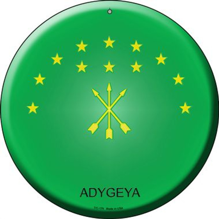 Adygeya Country Novelty Small Metal Circular Sign UC-179