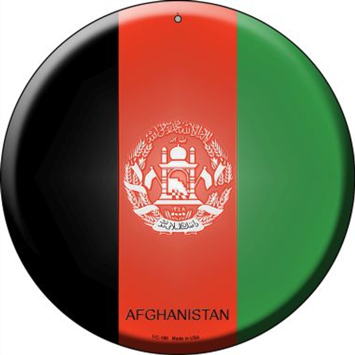 Afghanistan Country Novelty Small Metal Circular Sign UC-180