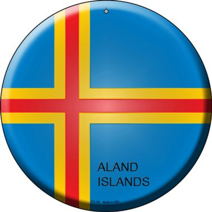 Aland Islands Country Novelty Small Metal Circular Sign UC-181