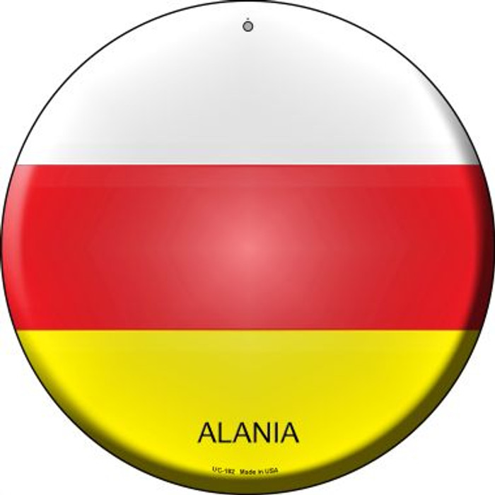 Alania Country Novelty Small Metal Circular Sign UC-182