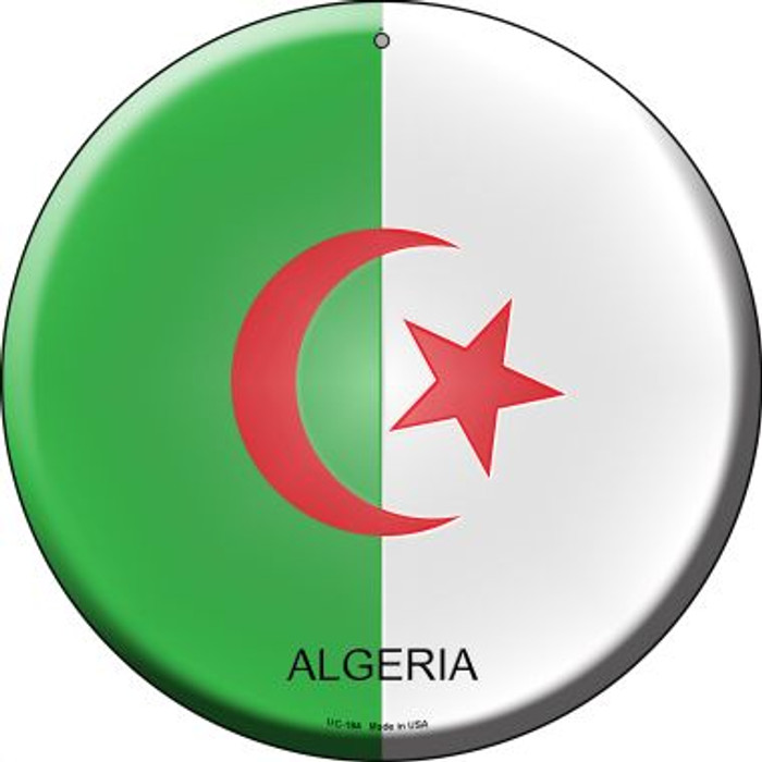 Algeria Country Novelty Small Metal Circular Sign UC-184