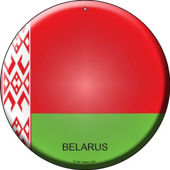 Belarus Country Novelty Small Metal Circular Sign UC-203