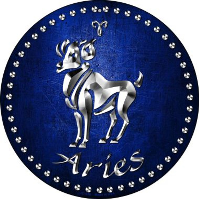 Aries Novelty Small Metal Circular Sign UC-536