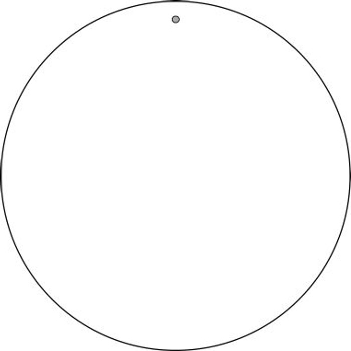 "White Dye Sublimation 8"" Novelty Metal  Circle Sign UC-000"