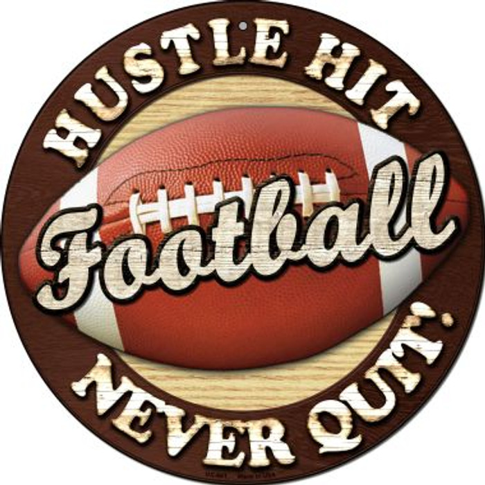 Football Novelty Small Metal Circular Sign UC-661