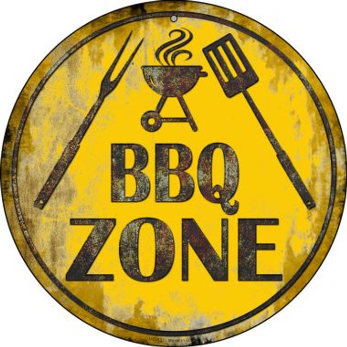 BBQ Zone Novelty Small Metal Circular Sign UC-837