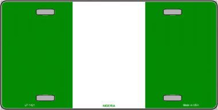 Nigeria Flag Metal Novelty License Plate