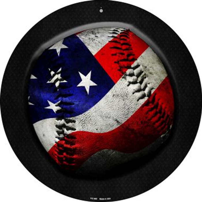 American Baseball Novelty Small Metal Circular Sign UC-969