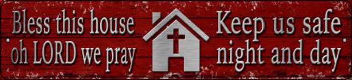 Bless This House Novelty Small Metal Street Sign K-1437