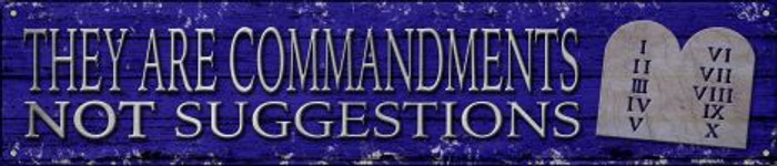 They Are Commandments Novelty Metal Street Sign ST-1433