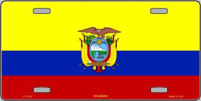 Ecuador Flag Metal Novelty License Plate