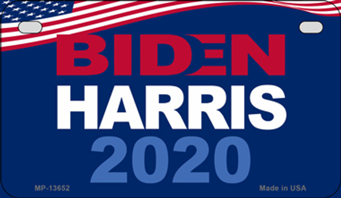 Biden Harris 2020  Novelty Metal Motorcycle Plate MP-13652