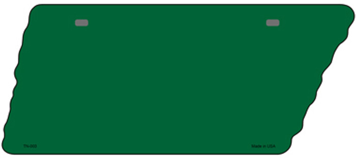 Green Solid Novelty Metal Tennessee License Plate Tag TN-003
