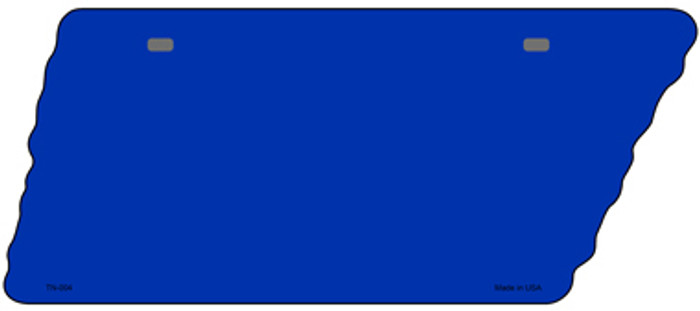 Blue Solid Novelty Metal Tennessee License Plate Tag TN-004