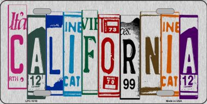 California License Plate Art Brushed Aluminum Metal Novelty License Plate