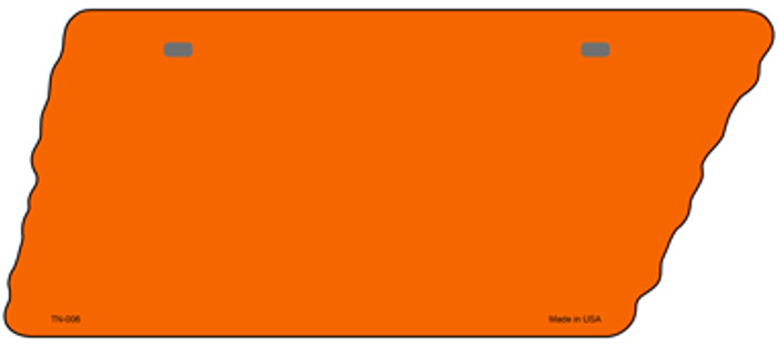 Orange Solid Novelty Metal Tennessee License Plate Tag TN-006