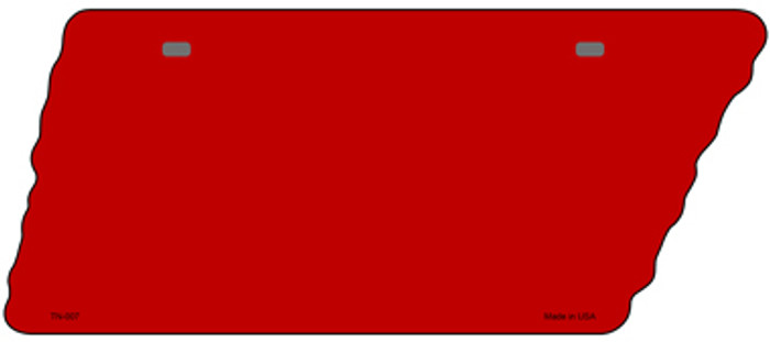 Red Solid Novelty Metal Tennessee License Plate Tag TN-007