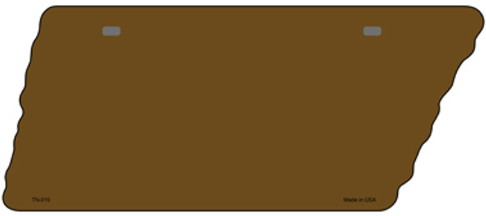 Brown Solid Novelty Metal Tennessee License Plate Tag TN-010