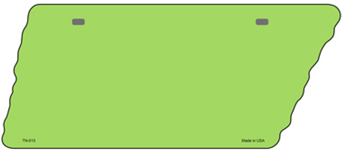 Lime Green Solid Novelty Metal Tennessee License Plate Tag TN-013