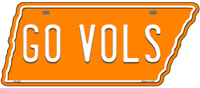 Go Vols Novelty Metal Tennessee License Plate Tag TN-022