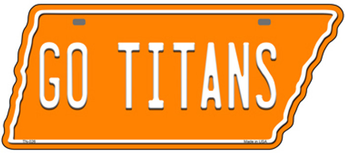 Go Titans Novelty Metal Tennessee License Plate Tag TN-026