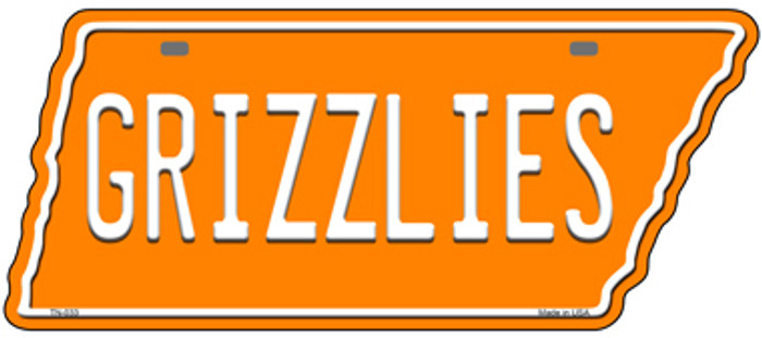 Grizzlies Novelty Metal Tennessee License Plate Tag TN-033