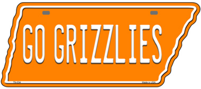 Go Grizzlies Novelty Metal Tennessee License Plate Tag TN-034