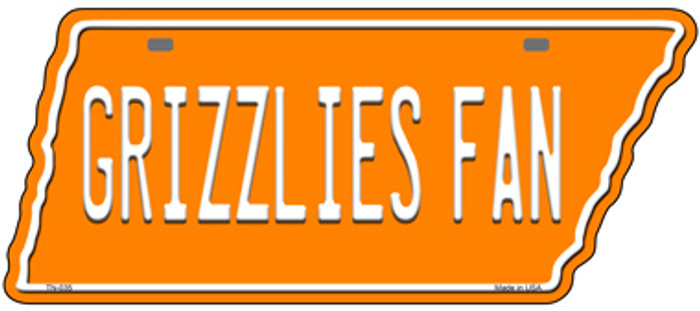 Grizzlies Fan Novelty Metal Tennessee License Plate Tag TN-035