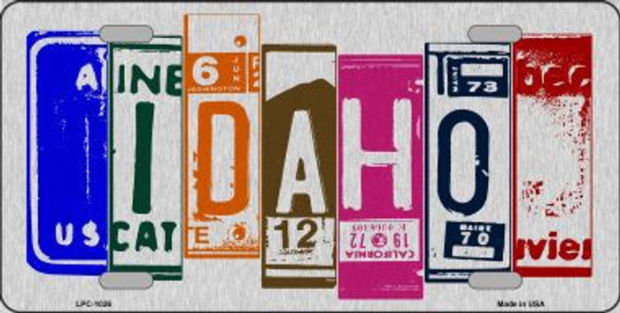 Idaho License Plate Art Brushed Aluminum Metal Novelty License Plate