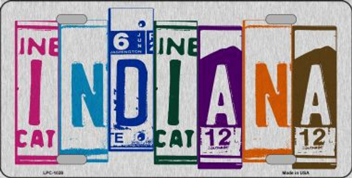Indiana License Plate Art Brushed Aluminum Metal Novelty License Plate
