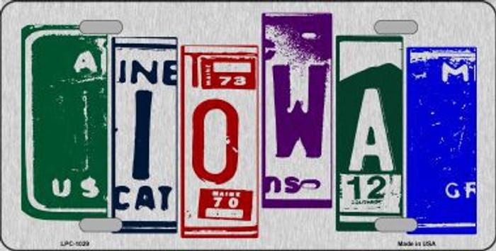Iowa License Plate Art Brushed Aluminum Metal Novelty License Plate