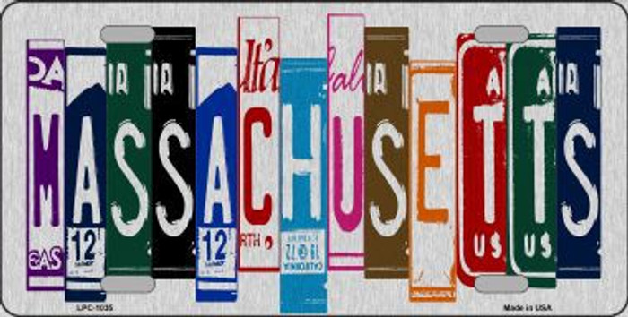 Massachusetts License Plate Art Brushed Aluminum Metal Novelty License Plate