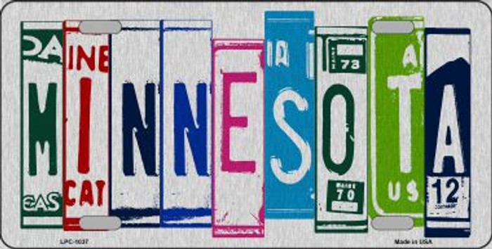 Minnesota License Plate Art Brushed Aluminum Metal Novelty License Plate