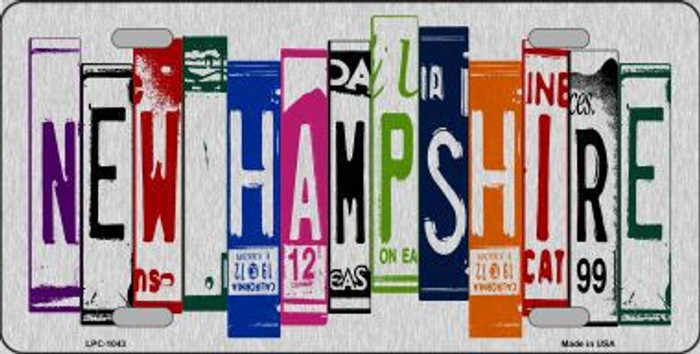 New Hampshire License Plate Art Brushed Aluminum Metal Novelty License Plate