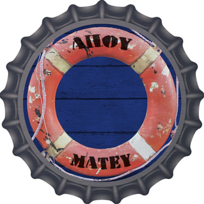 Ahoy Matey Novelty Metal Bottle Cap BC-1157