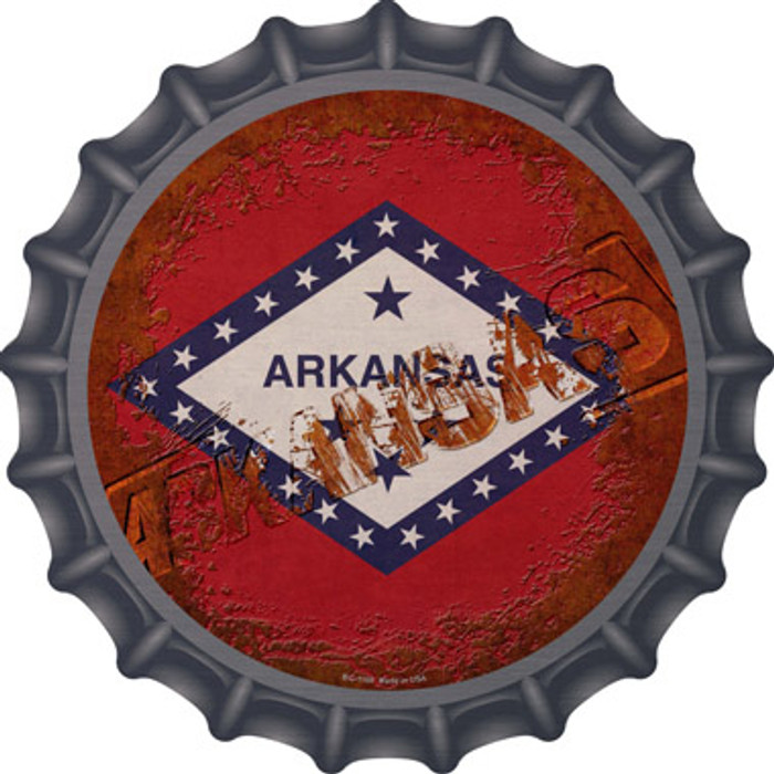 Arkansas Rusty Stamped Novelty Metal Bottle Cap BC-1169