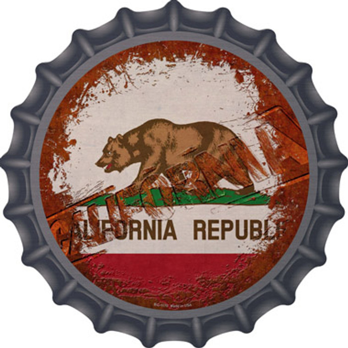 California Rusty Stamped Novelty Metal Bottle Cap BC-1170