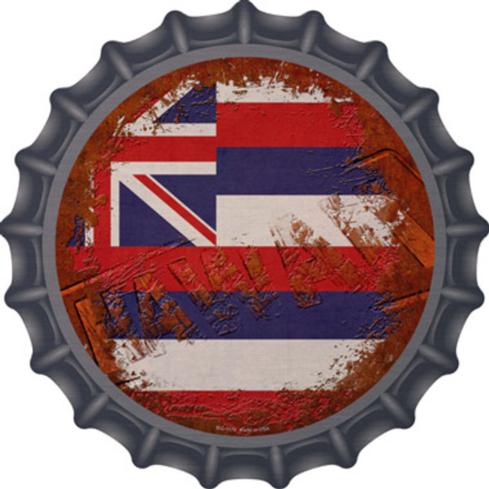 Hawaii Rusty Stamped Novelty Metal Bottle Cap BC-1176